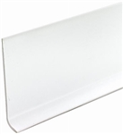 "WHITE VINYL WALL COVE BASE 4"" BY THE FOOT"