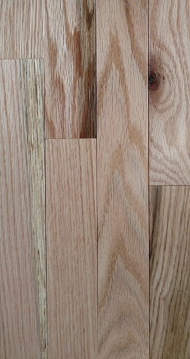 "NATURAL 2-1/4"" SOLID OAK FLOORING CABIN GRADE 25 SQ FT"