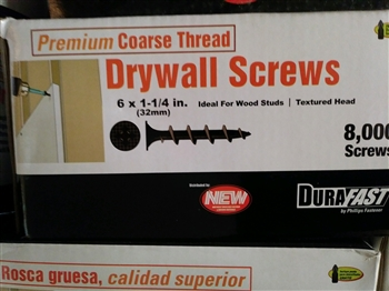 "1-1/4"" DURAFAST COARSE DRYWALL (8,000 count)"