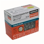 "#9x1-1/2"" SIMPSON SCREWS 100pc"