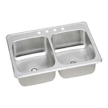 "DOUBLE BOWL STAINLESS STEEL SINK (8"" Deep Bowls 33""w x 22""d)"
