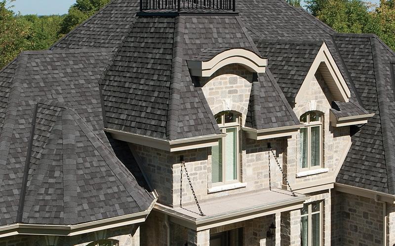 Black architectural shingles Black Metal Lenco Lumber Cambridge Dual Black Roofing By Iko