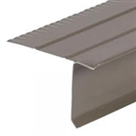 ROOF DRIP EDGE WIDE FLANGE BROWN 10' ALUMINUM