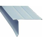 ROOF DRIP EDGE WIDE FLANGE WHITE 10' ALUMINUM
