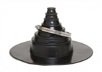 "EPDM RUBBER ROOF PIPE BOOT 1"" to 6"""