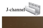 J-CHANNEL BROWN VINYL SIDING 1/2""