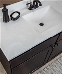 WOLF CULTURED MARBLE CUSTOM COUNTERTOP or VANITY TOP