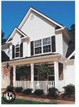 "4"" TRADITIONAL WHITE VINYL SIDING VISION PRO BY GP"