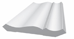 "TANZA 3-5/8"" CROWN 8' WHITE - ROYAL TRIM"