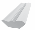 TANZA BED MOULDING 8' WHITE - ROYAL TRIM