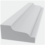 TANZA SHINGLE MOULD 8' WHITE - ROYAL TRIM
