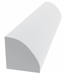 "TANZA 3/4"" QTR ROUND 8' WHITE - ROYAL TRIM"