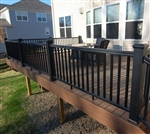 "BLACK RAIL PACK TIMBERTECH EXPRESS 8'  (92.5"" Railing Length)"