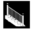 "BLACK STAIR RAIL PACK TIMBERTECH EXPRESS 8'  (92.5"" Railing Length)"