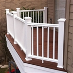 "WHITE RAIL PACK TIMBERTECH EXPRESS 8'  (92.5"" Railing Length)"