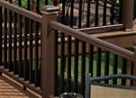 "WALNUT / KONA STAIR RAIL PACK TIMBERTECH EXPRESS 8'  (92.5"" Railing Length)"