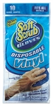 10 Count, Disposable Vinyl Gloves