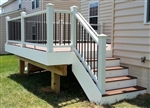TREX STAIR RAIL KIT 6' WH/BL