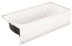"WHITE STEEL TUB 60"" ( DRAIN LEFT )"