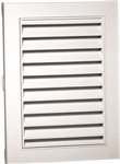 "18""x24"" RECTANGULAR VINYL VENT WHITE"