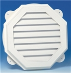 "24"" OCTAGON VINYL GABLE VENT WALL WHITE"