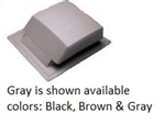 BROWN ROOF VENT PLASTIC IR65BR