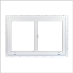 SLIDER WINDOW 24x24 WHITE VINYL