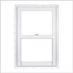 28x62.5 WHITE VINYL WINDOW  SINGLE HUNG