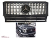 G-Wagon Gt 2019 Style Black-Chrome Grille G63 W463 1990-2017 G500 G550 G63 G55