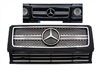 G63 GRILLE STYLE BLACK-CHROME W463 1990-2017 FITS ALL MODELS G500/G550/G55/G63