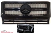 G-WAGON G63  STYLE ALL BLACK GRILLE W463 1990-2017 G500 G550 G63 G55