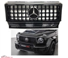 G-WAGON GT STYLE ALL BLACK GRILLE WITH CHROME STAR W463 1990-2017 G500 G550 G63 G55
