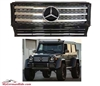 G-WAGON G55 BLACK-CHROME GRILLE WITH CHROME STAR W463 1990-2017 G500 G55 G550 G63