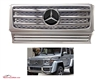 G-WAGON G55 SILVER-CHROME GRILLE WITH CHROME STAR W463 1990-2017 G500 G55 G550 G63