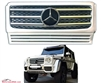 G-WAGON G55 WHITE-CHROME GRILLE WITH CHROME STAR W463 1990-2017 G500 G55 G550 G63