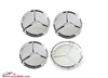 75 Mm Mercedes Benz Wheel Center Cap Set Of 4 Silver/Chrome