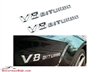 V8biturbo Chrome Emblem Logo Pair