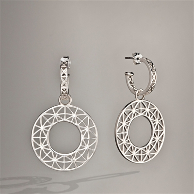 Silver earrings two-piece