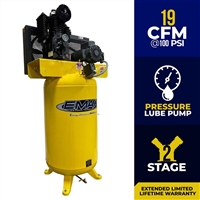 EMAX 5hp Pressure Lubricated Industrial Piston Air Compressor Series