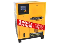 EMAX 20HP Single Phase Rotary Screw-Variable Speed Direct Drive Air Compressor