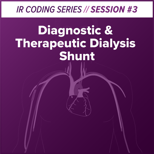 Diagnostic and Therapeutic Dialysis Shunt Interventional Radiology Coding