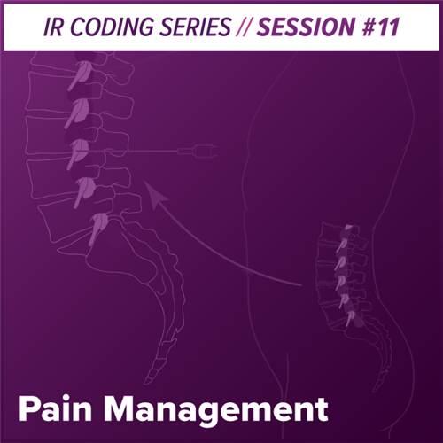 Pain Management Interventional Radiology Coding
