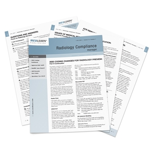 Radiology Compliance Manager Newsletter