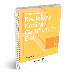 Study Guide for the Radiology Coding Certification Exam book image