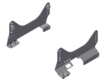 R-9222 Seat Mounts for OEM Sliders (Driver 365mm-429mm wide)