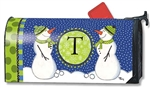 "T Winter Frolic Monogram ""T"" Mail Wrap®"
