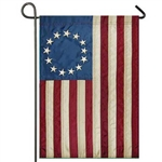 "Betsy Ross Applique Garden Size Flag - 12"" x 18"""