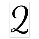 Number 2 Signature Sign Tile