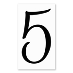 Number 5 Signature Sign Tile