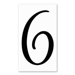 Number 6 Signature Sign Tile